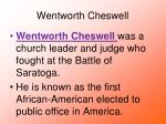 wentworth cheswell