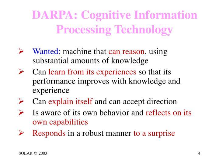 DARPA: Cognitive Information