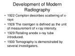 development of modern radiography1