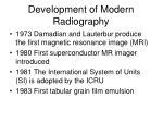 development of modern radiography5
