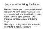 sources of ionizing radiation1