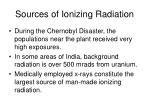 sources of ionizing radiation3