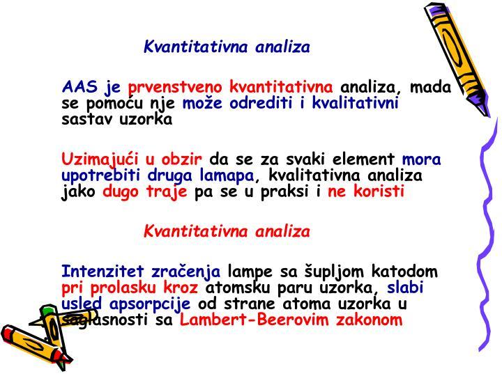 Kvantitativna analiza