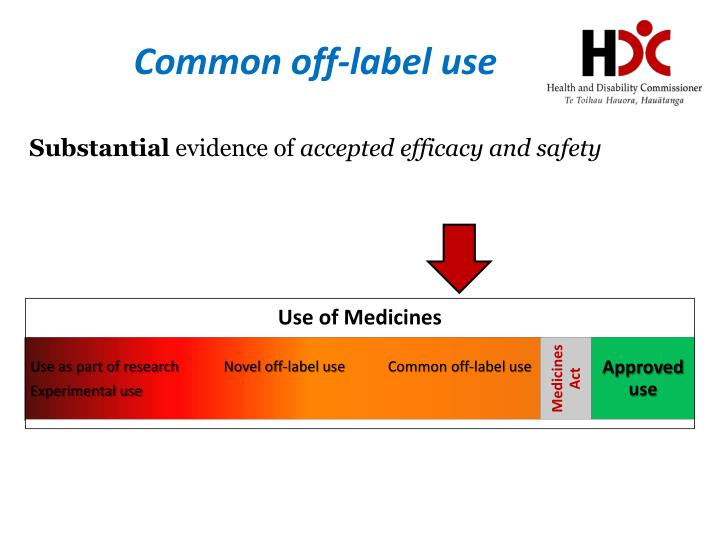Common off-label use