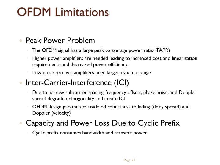 OFDM Limitations