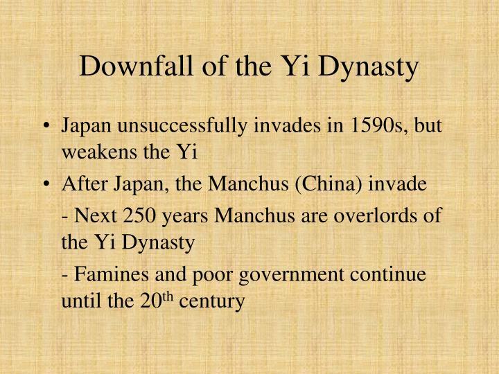 Downfall of the Yi Dynasty