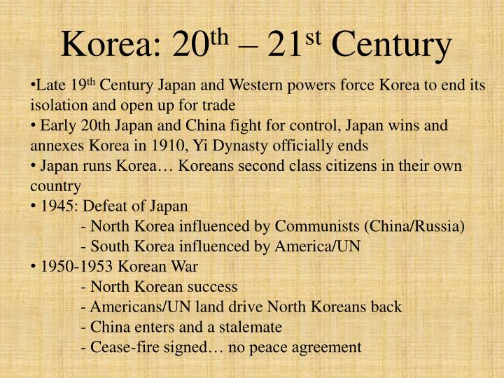 Korea: 20