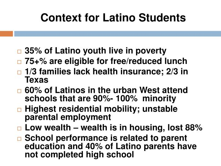 Context for Latino Students