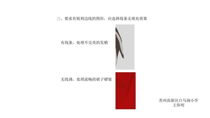 三、要求有锐利边线的图形,应选择线条无填充效果