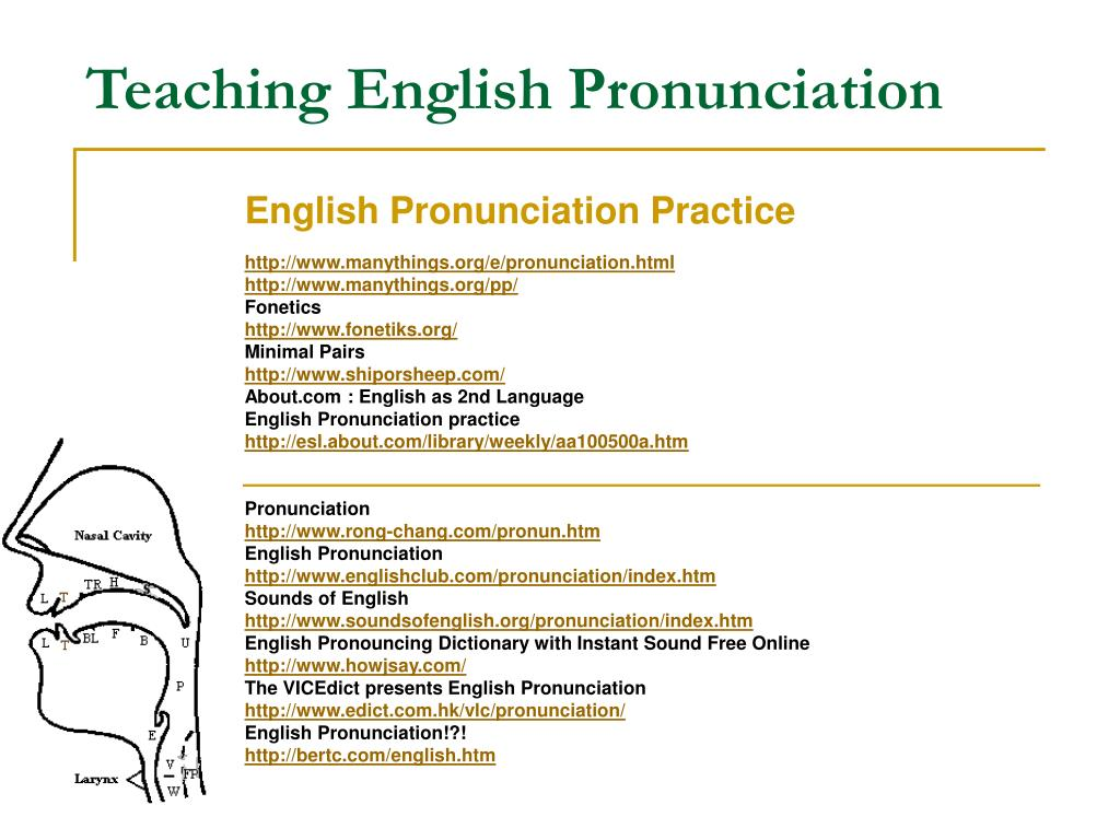 PPT - Teaching English Pronunciation PowerPoint ...