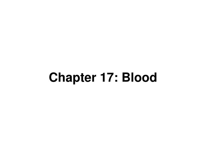 chapter 17 blood n.