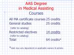 aas degree in medical assisting courses