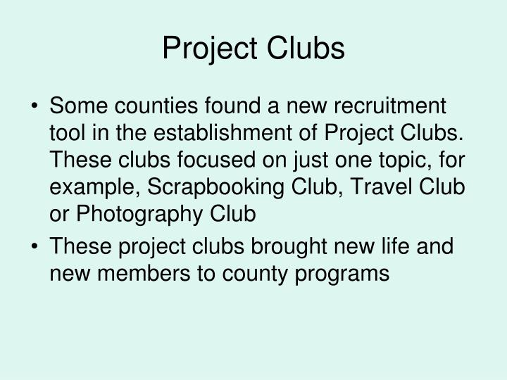 Project Clubs