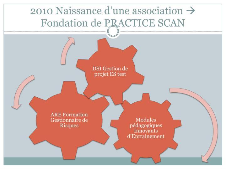 2010 Naissance d'une association