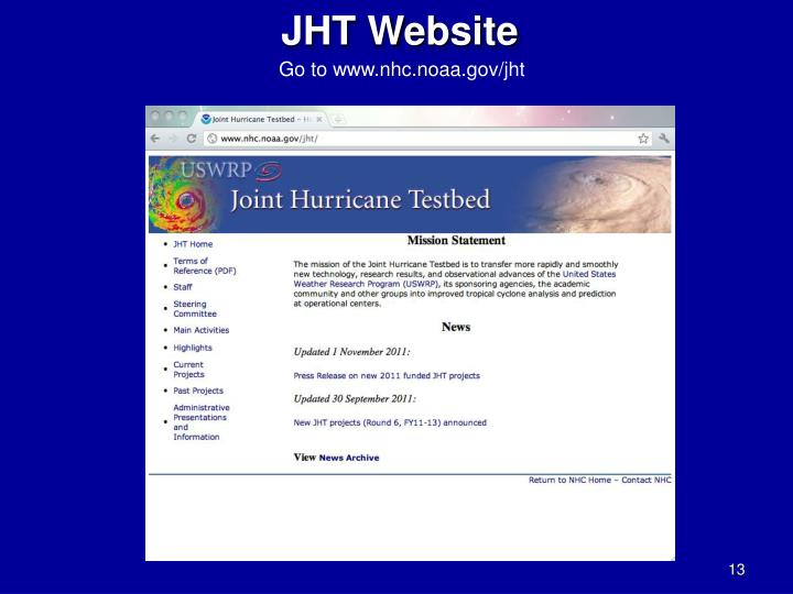 JHT Website