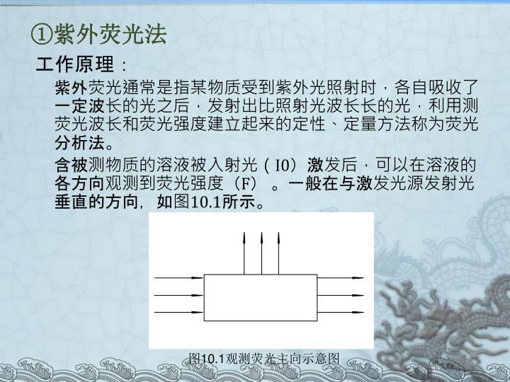①紫外荧光法
