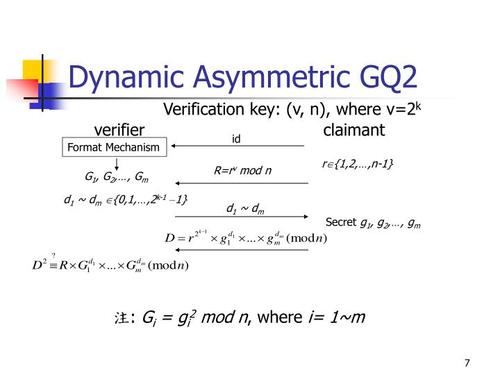 Dynamic Asymmetric GQ2
