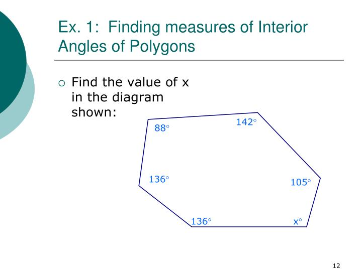 ex 1 finding measures of interior angles of polygons n