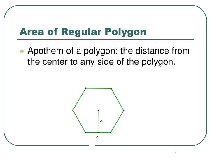 Area of Regular Polygon