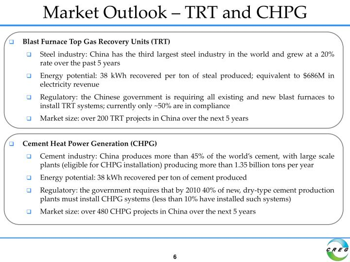 Market Outlook – TRT and CHPG