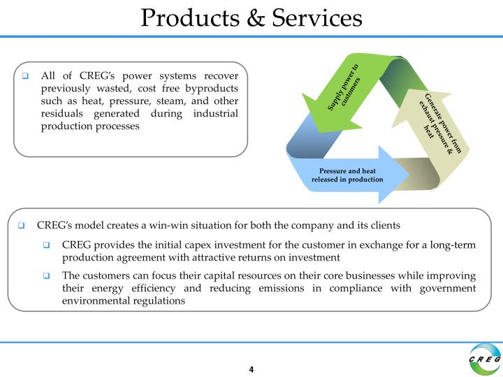 Supply power to customers