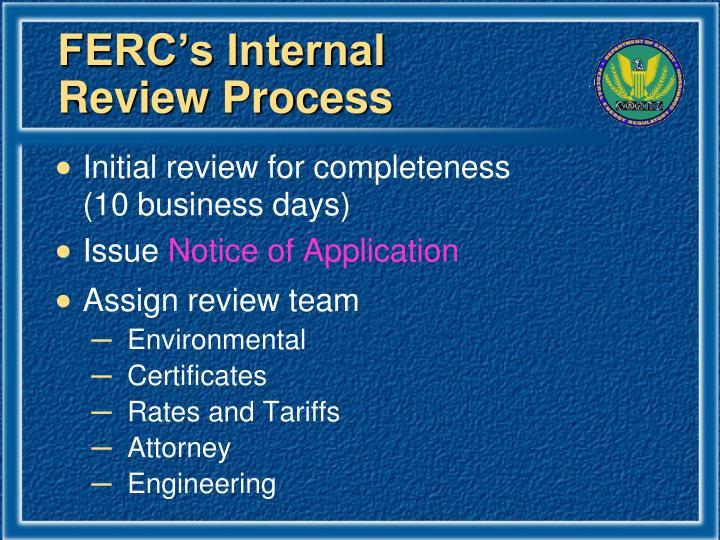FERC's Internal
