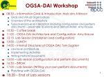ogsa dai workshop