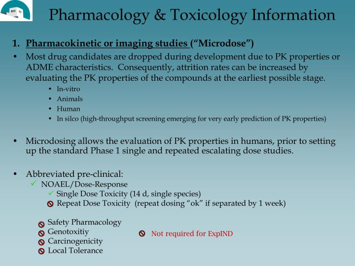 Pharmacology & Toxicology Information