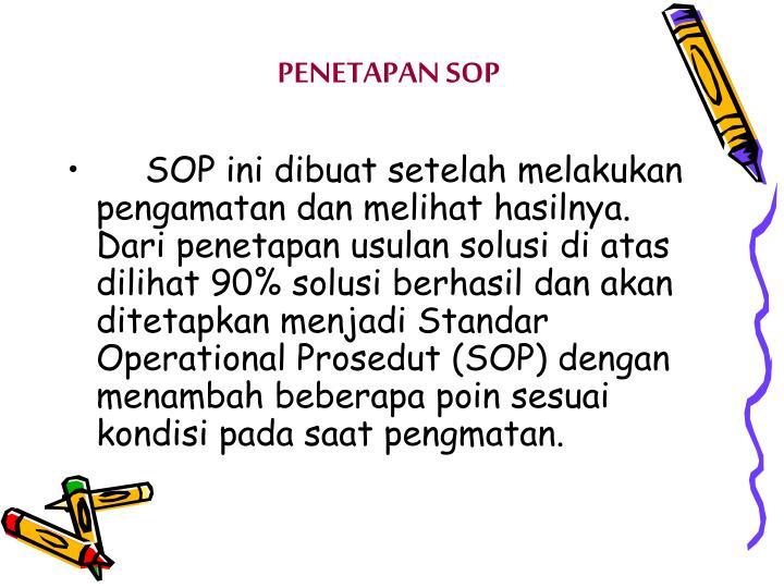 PENETAPAN SOP