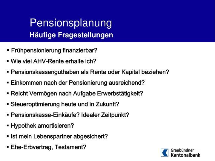 Pensionsplanung