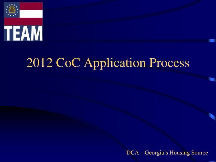 2012 CoC Application Process