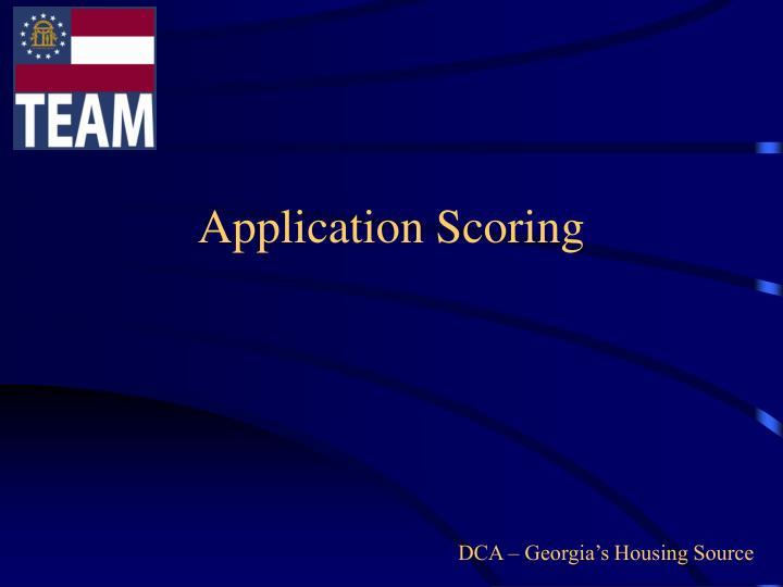 Application Scoring