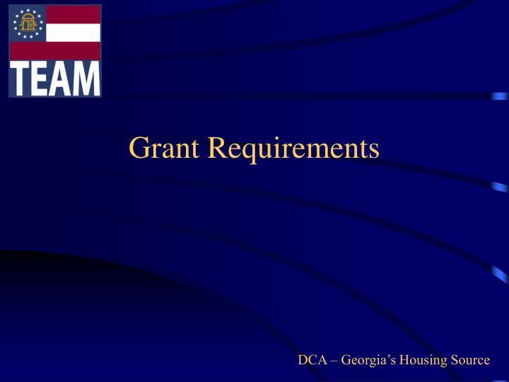 Grant Requirements