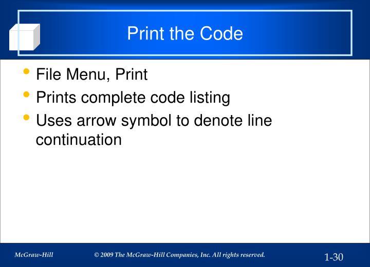 Print the Code