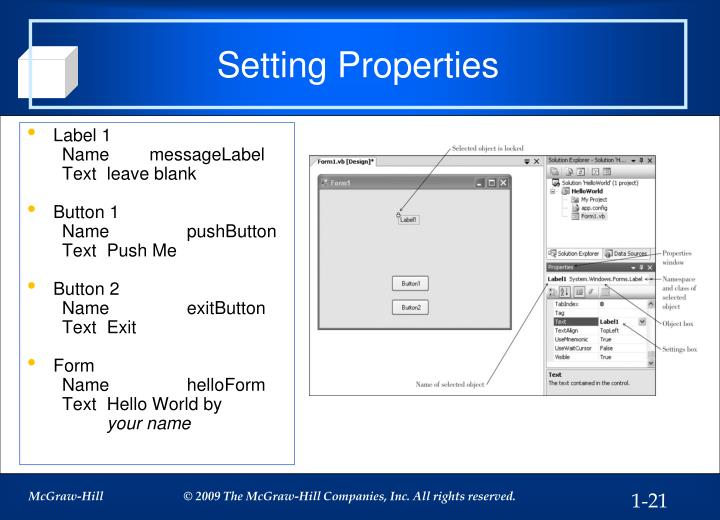 Setting Properties