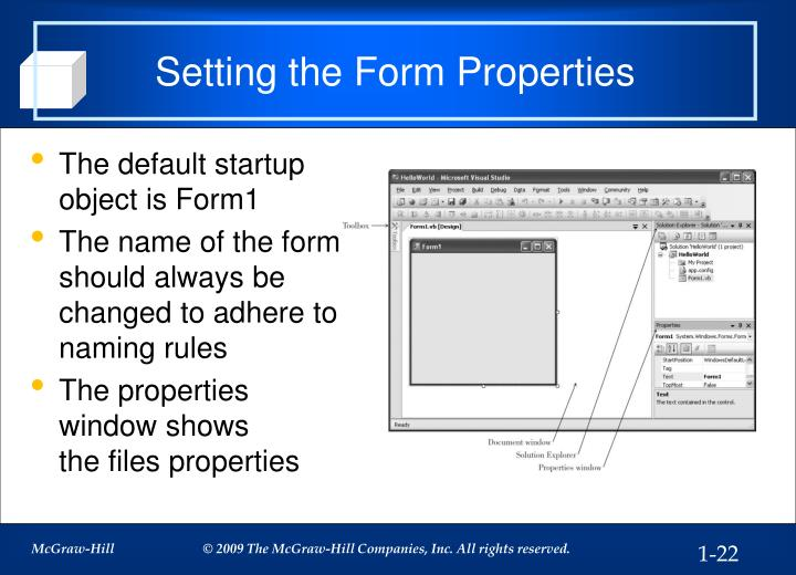 Setting the Form Properties