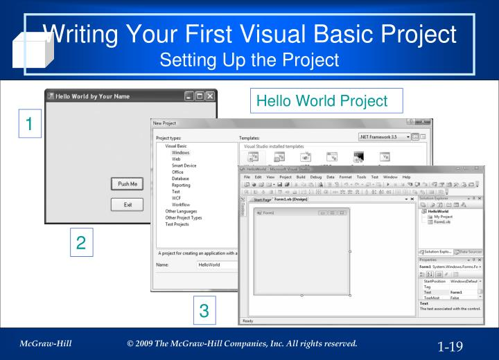 Writing Your First Visual Basic Project