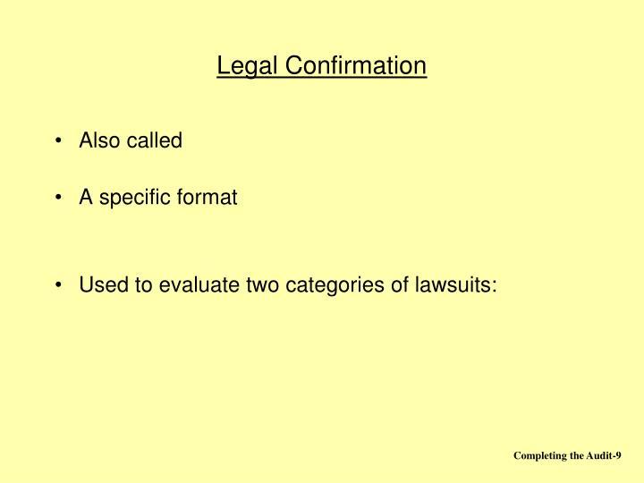 Legal Confirmation