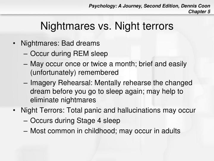 Nightmares vs. Night terrors