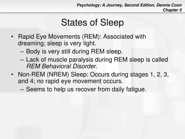States of Sleep