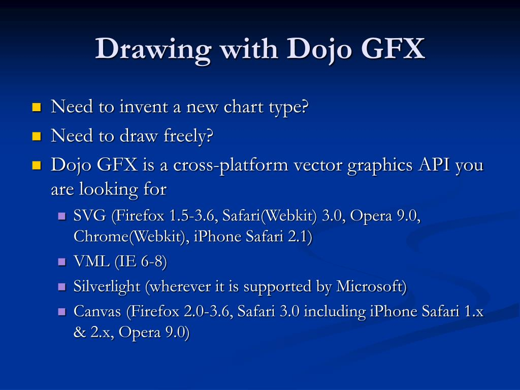 PPT - Data Visualization with Dojo toolkit PowerPoint Presentation