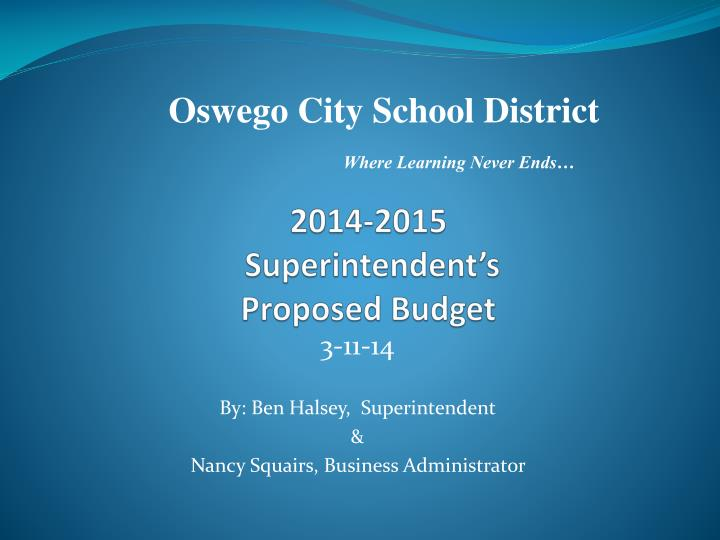 2014 2015 superintendent s proposed budget