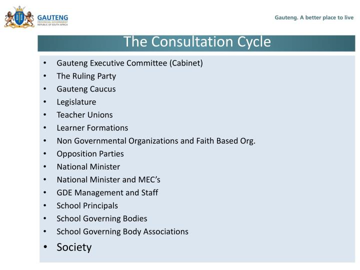 The consultation cycle