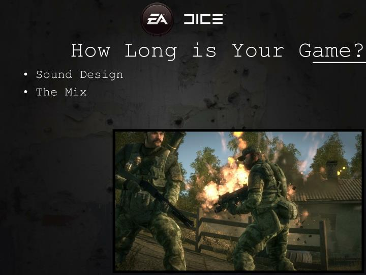 How Long is Your Game?
