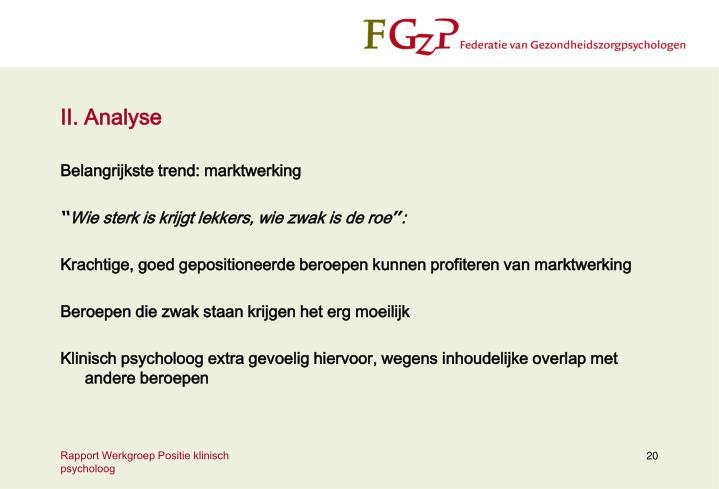 II. Analyse