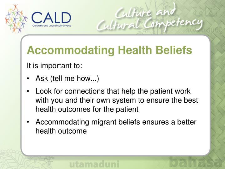 Accommodating Health Beliefs