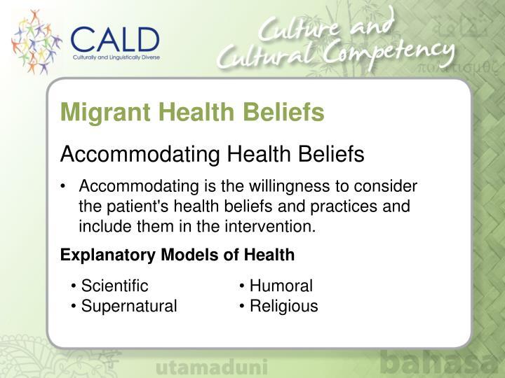 Migrant Health Beliefs