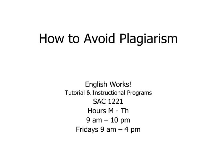 avoid plagiarism research paper On avoiding plagiarism and other inappropriate writing practices was created to help students, as well as professionals, identify and prevent such malpractices and to develop an awareness of ethical writing and authorship.