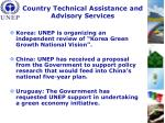country technical assistance and advisory services