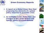 green economy reports